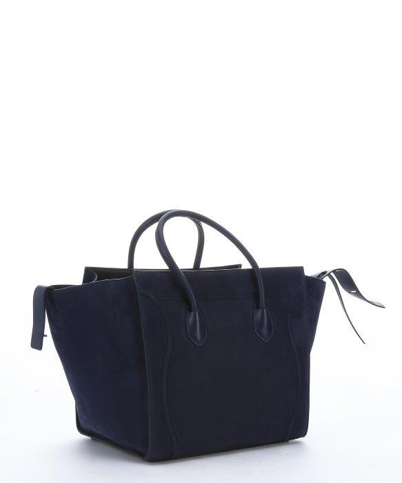C¨¦line Navy Blue Suede \u0026#39;Phantom\u0026#39; Large Trapeze Tote Bag in Blue ...