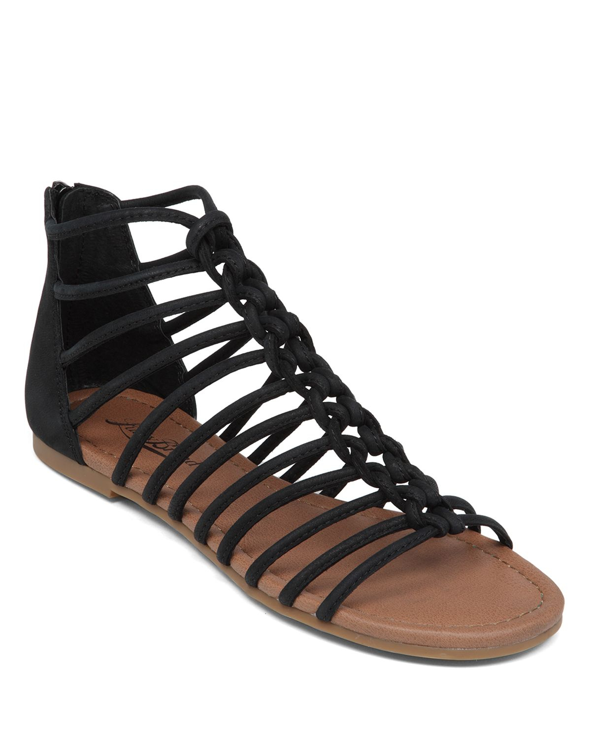 Lyst - Lucky Brand Flat Sandals - Casmett Caged In Black