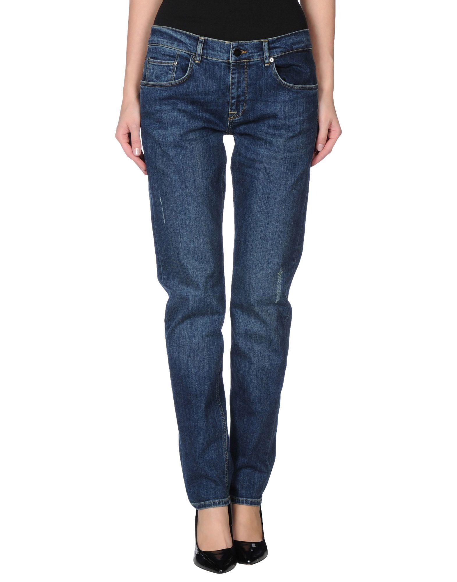 victoria beckham denim trousers in blue save 60 lyst. Black Bedroom Furniture Sets. Home Design Ideas