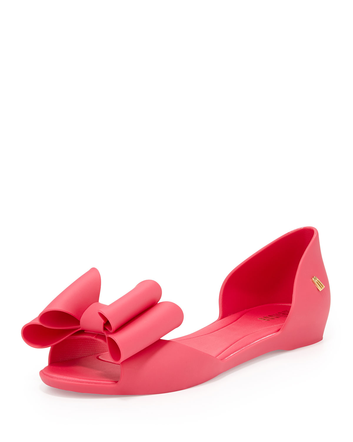 Melissa Peeptoe Bow Jelly Skimmer Pink in Pink (10)