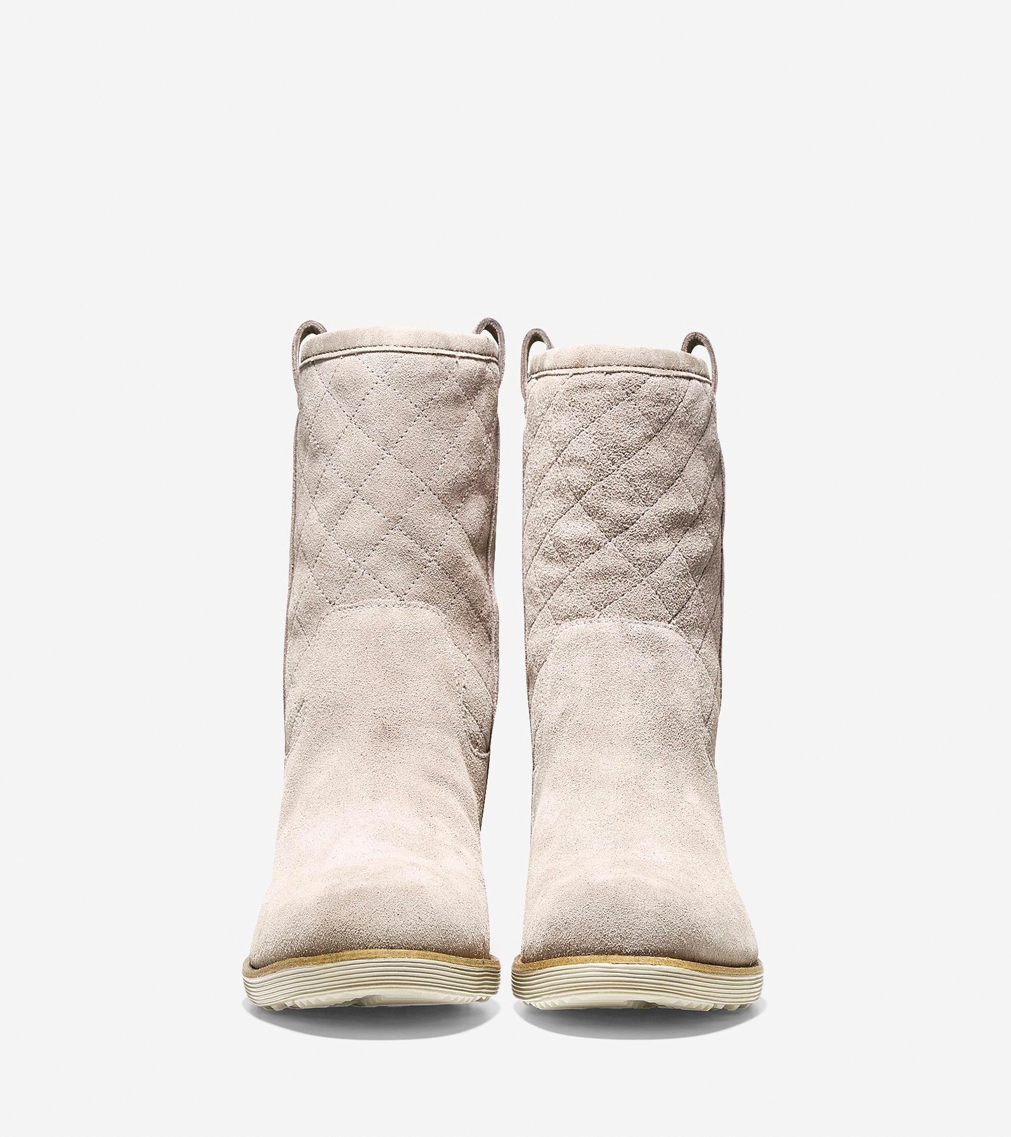 cole haan roper grand waterproof boot in beige driftwood