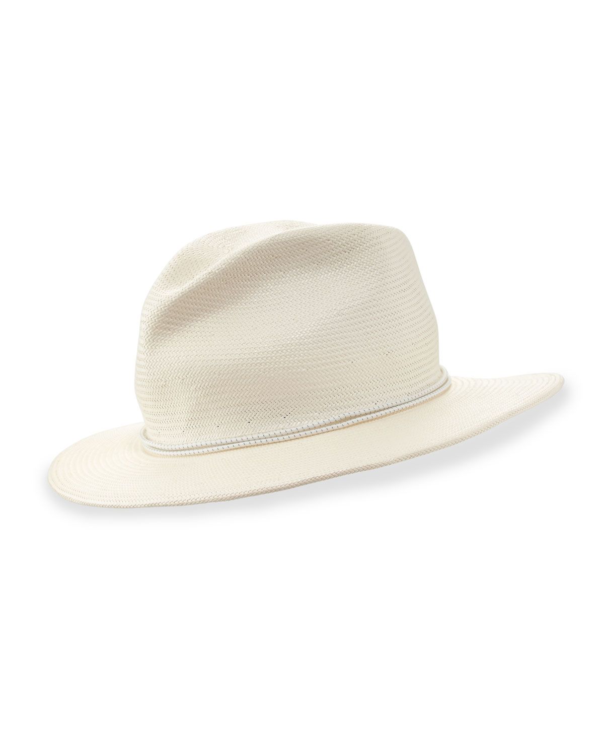 70bb7537459f8 Yestadt Millinery Nomad Packable Straw Fedora Hat in White for Men ...