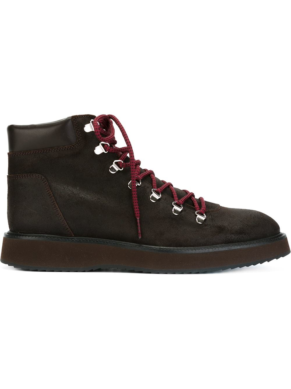 Hogan Lace Up Hiking Boots In Brown For Men Lyst