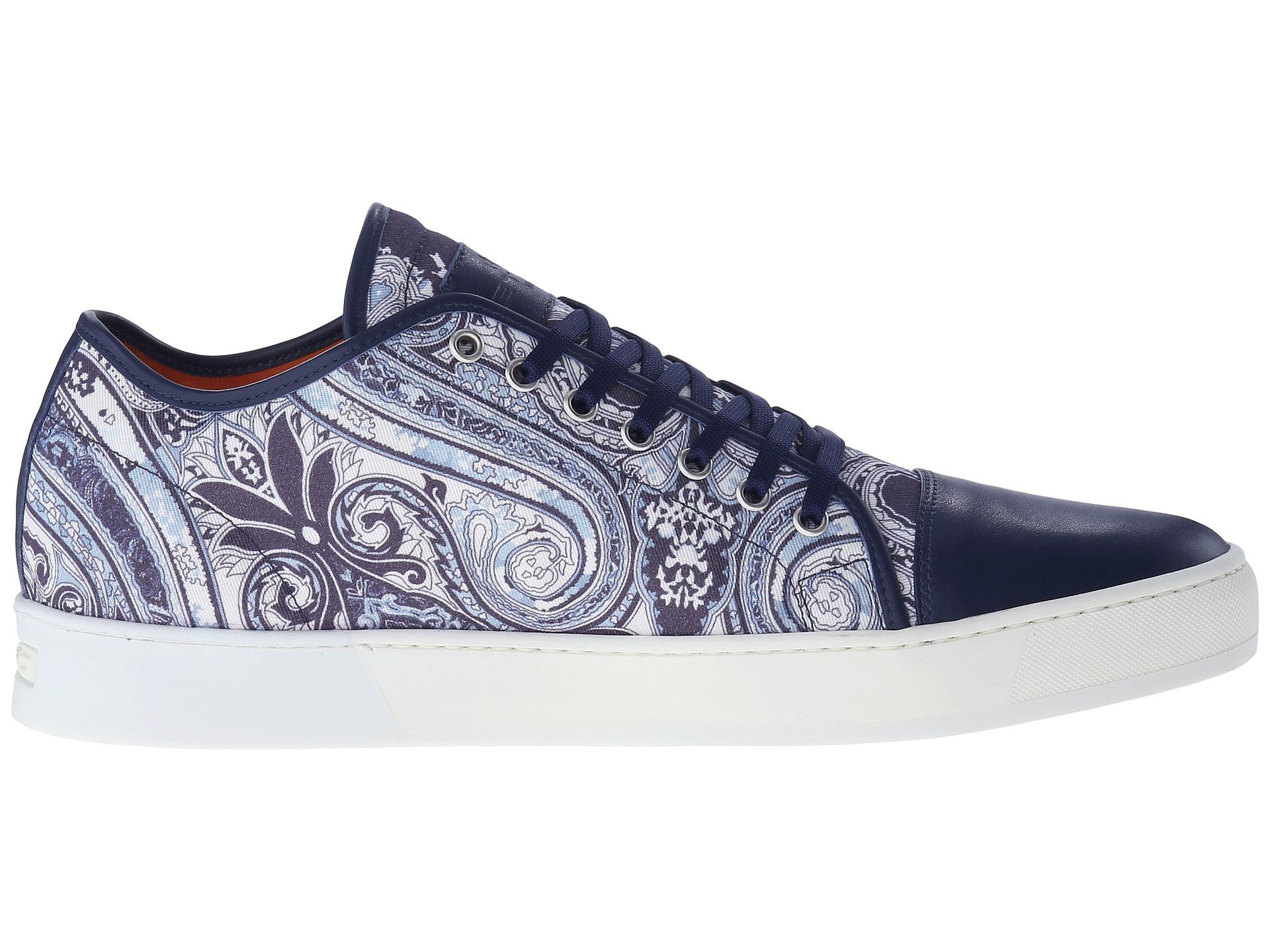 van volkswagen occasion - Etro Paisley Leather Toe Sneaker in Blue for Men | Lyst