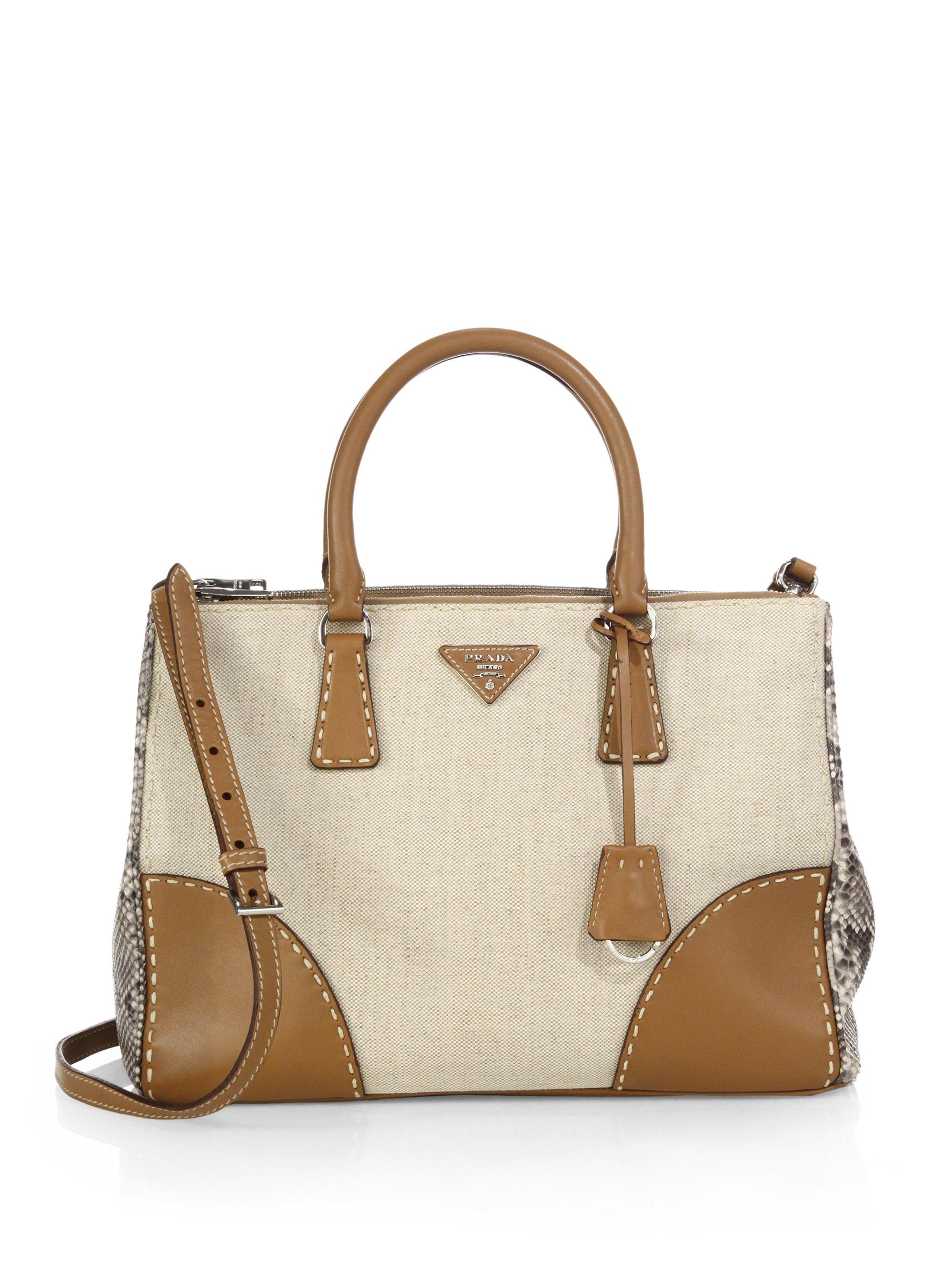 11d685ab7ca28c coupon code for replica prada handbags 80db9 0b856; wholesale lyst prada  canvas python double bag in brown 66fc2 ff23f