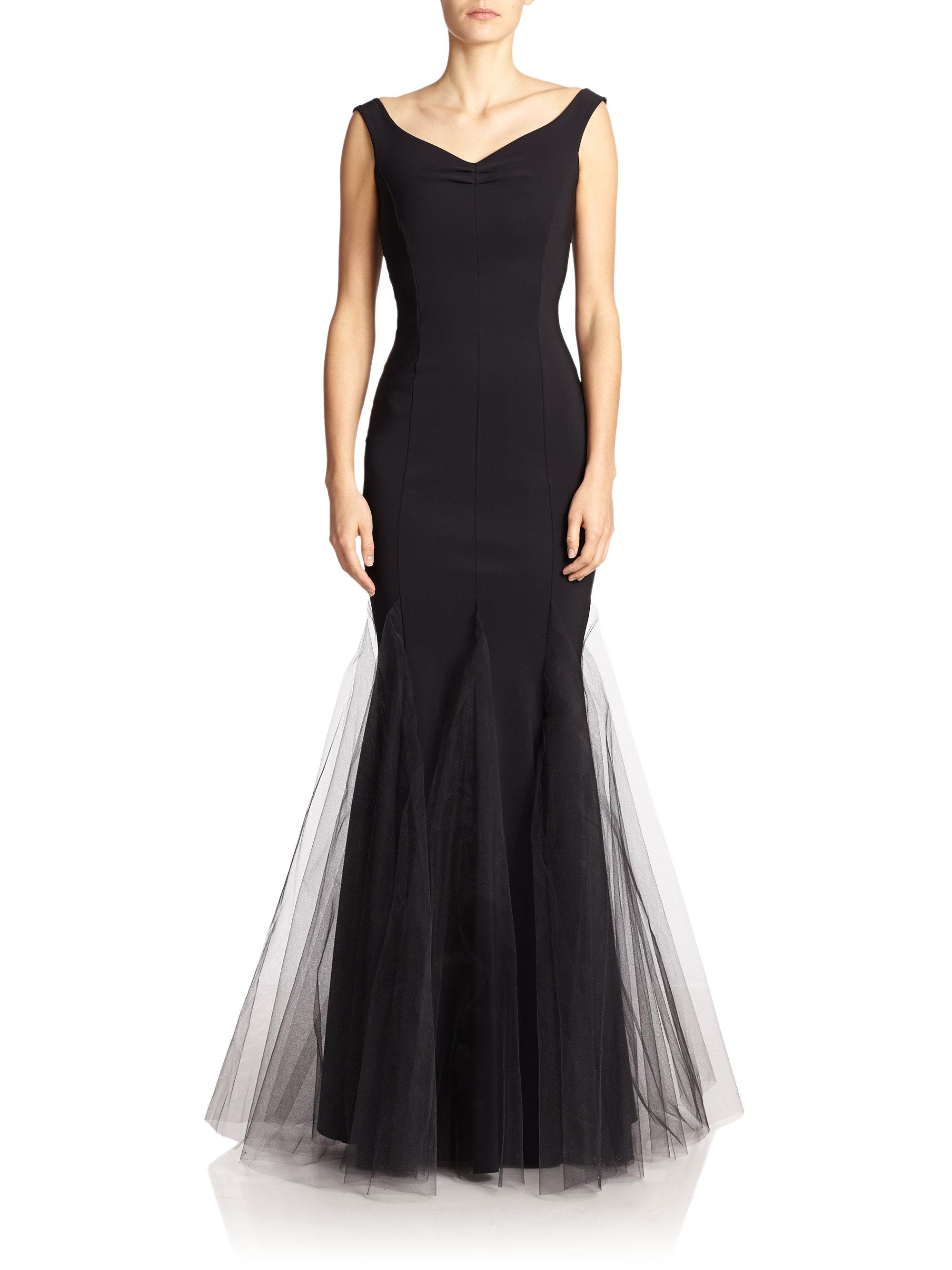 lyst la petite robe di chiara boni diva gown in black. Black Bedroom Furniture Sets. Home Design Ideas