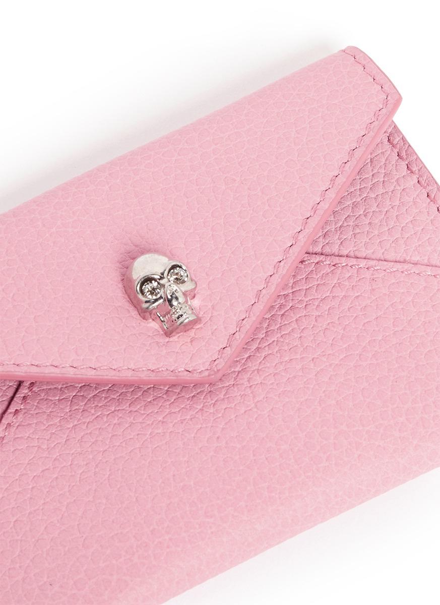 Pink Skull Card Holder Alexander McQueen rGa6CLjW