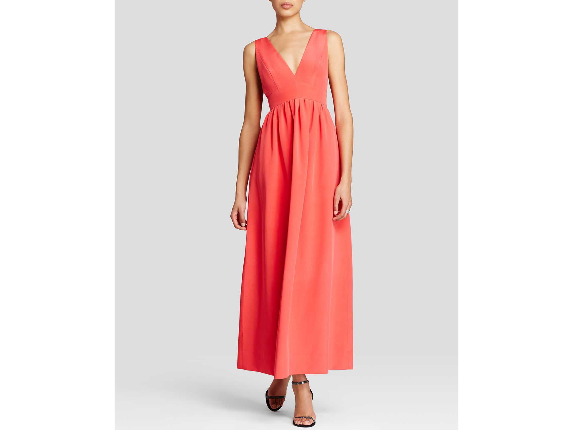 a886ebeabb4 Lyst - JILL Jill Stuart Deep Double V Crepe Gown - Bloomingdale s ...