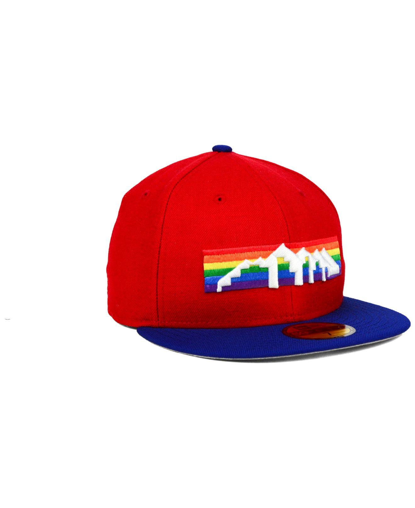 Denver Nuggets Basketball Colors: Ktz Denver Nuggets Hwc Team Color 59fifty Cap In