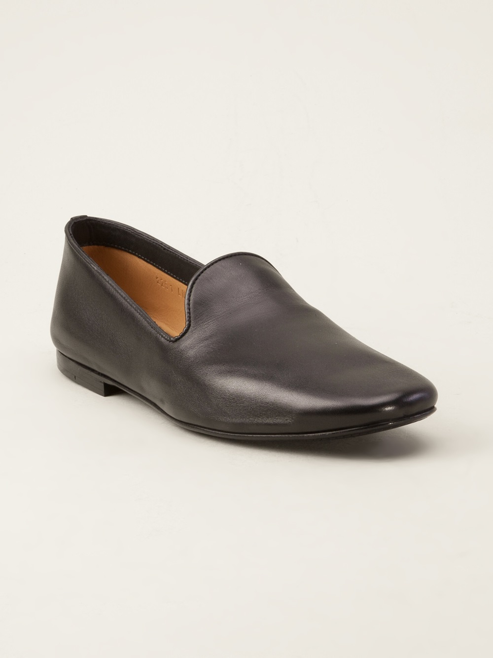 Christophe Lemaire Leather Loafer In Black For Men Lyst