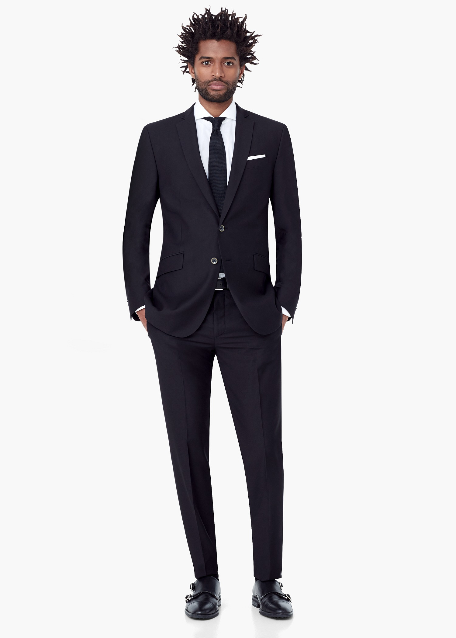 Mango Modern Slim-fit Suit Blazer in Black for Men | Lyst