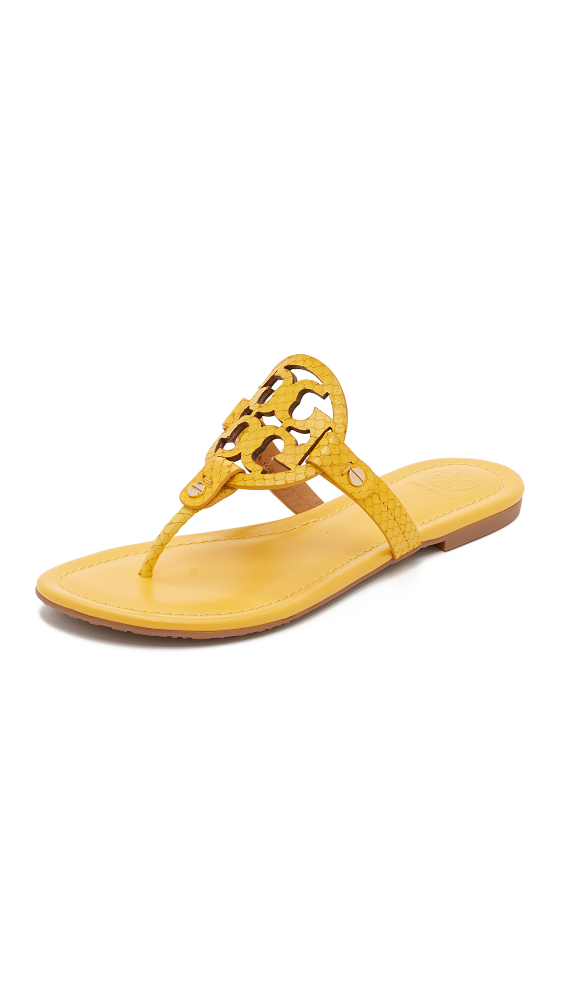 221a6d430 Lyst - Tory Burch Miller Sandals in Yellow