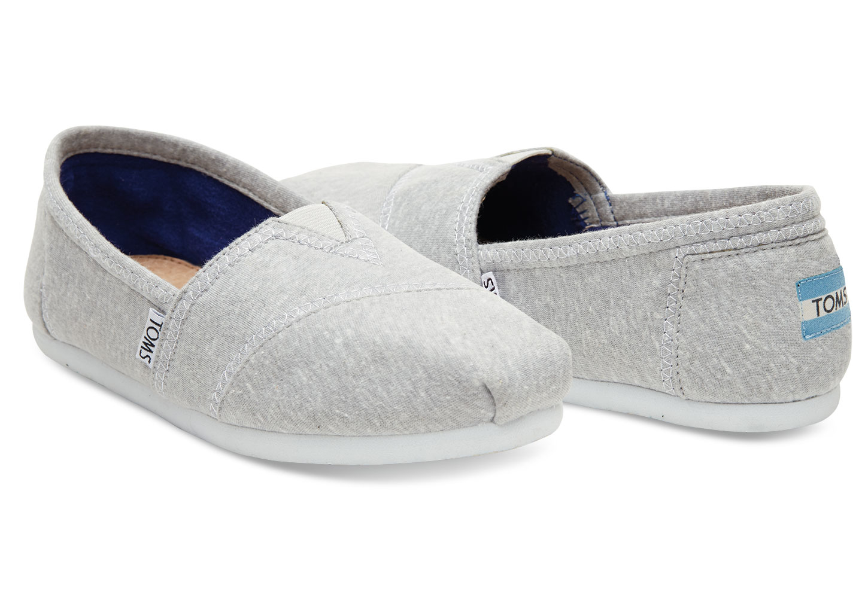 7676d836448 Lyst - TOMS Light Grey Jersey Women s Classics in Gray