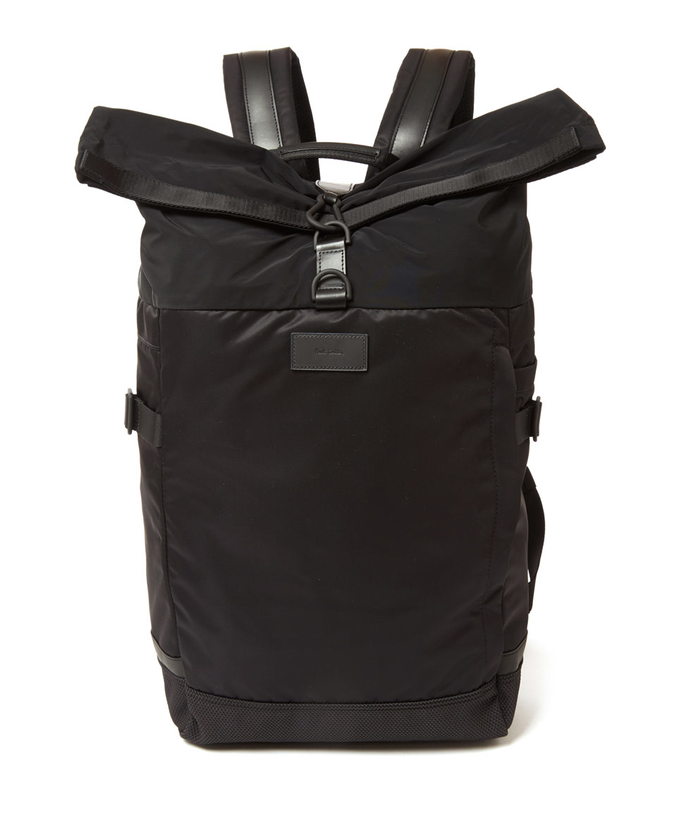 Paul smith Black Roll-Top Cycling Backpack in Black for Men | Lyst
