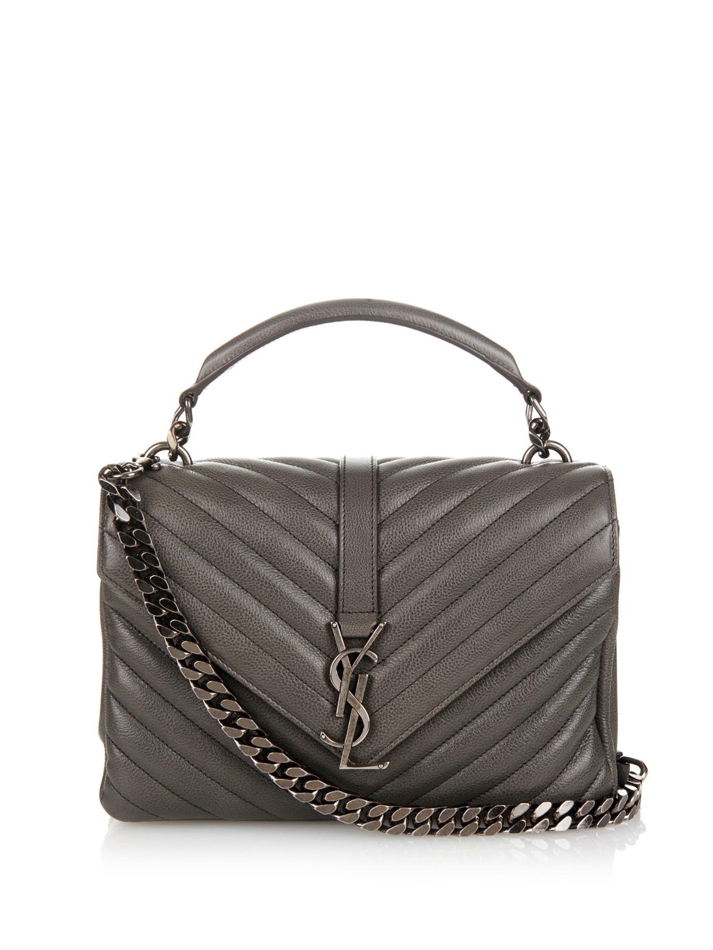 04b533b87a Lyst - Saint laurent Monogram College Small Quilted .