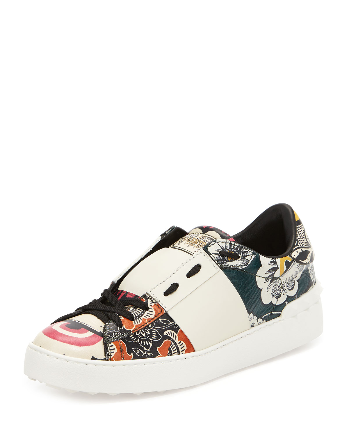 low cost in China cheap price Valentino Floral Rockstud Sneakers clearance under $60 NceZgf9zg
