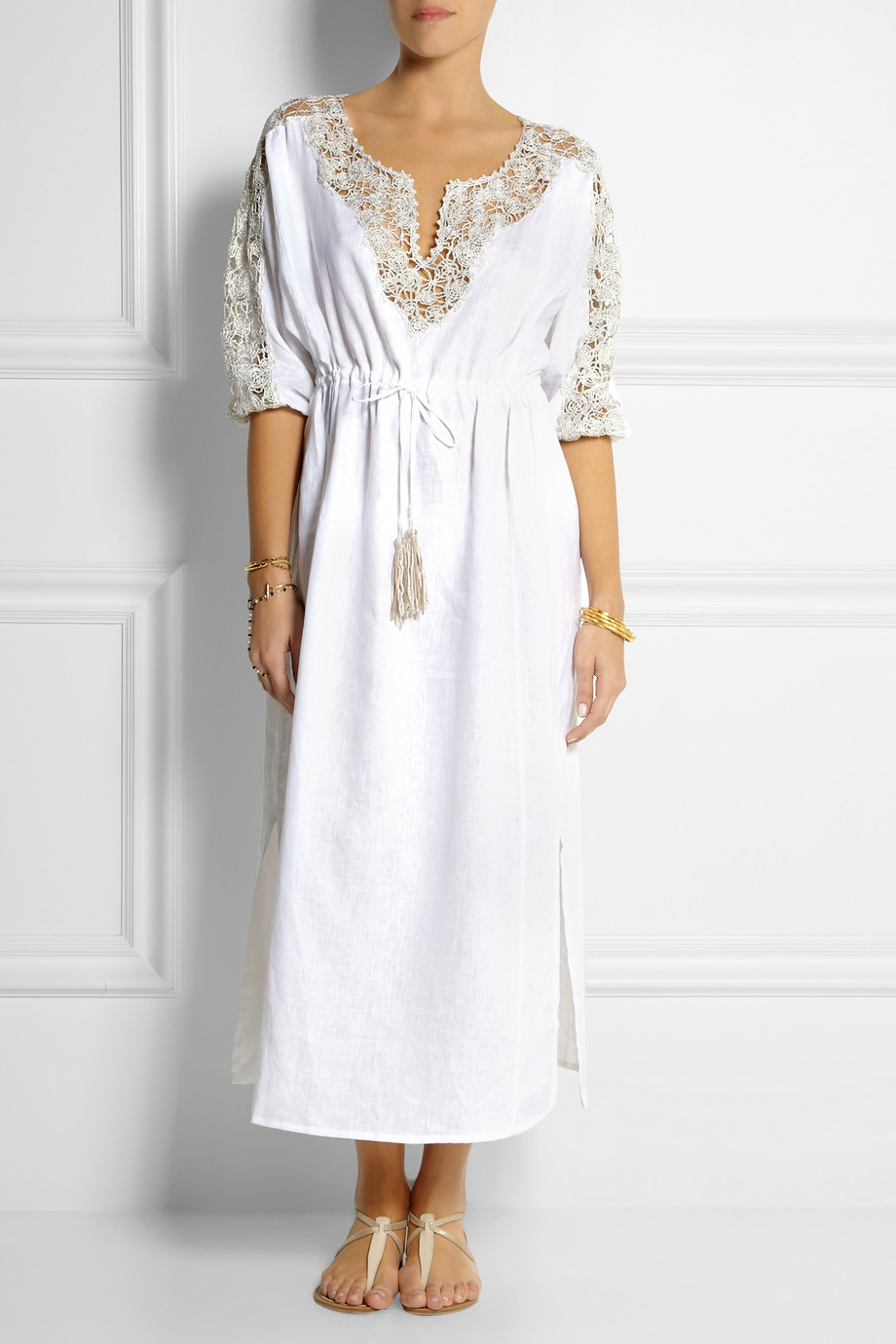 White Linen Beach Dress