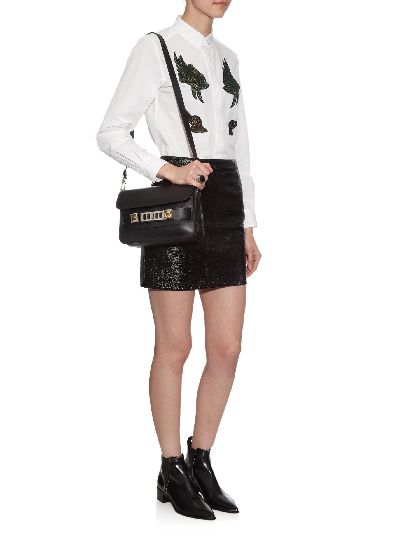 f17df522313f Lyst - Proenza Schouler Ps11 Mini Shoulder Bag in Black