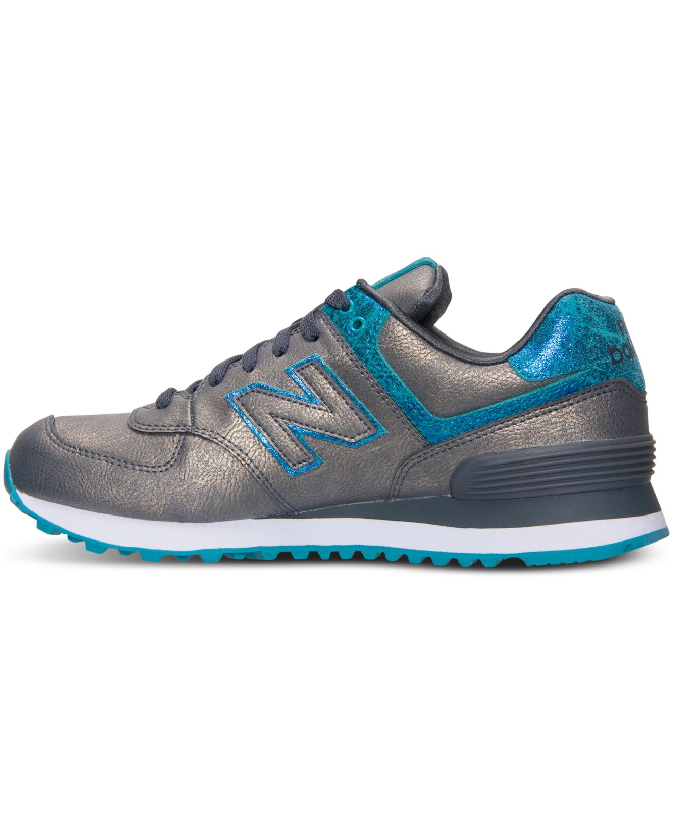 574 new balance blue with pink glow and white