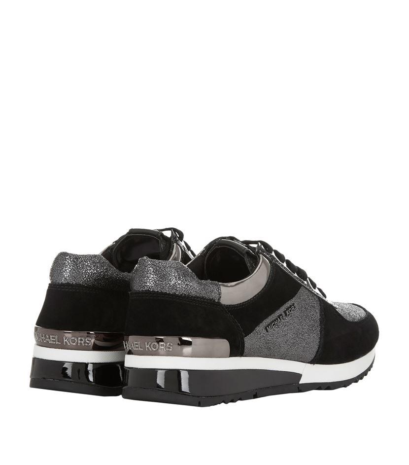 9a8c2837bc7b MICHAEL Michael Kors Allie Glitter Sneaker in Black - Lyst