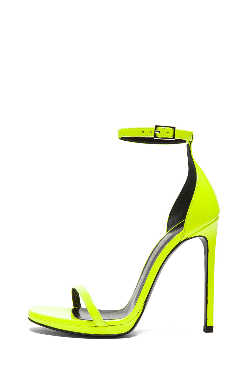 Lyst - Saint laurent Jane Leather Ankle Strap Sandal in Yellow