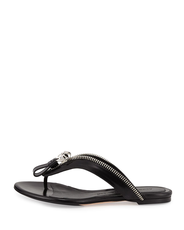 king skull thong sandals - Black Alexander McQueen OffmV