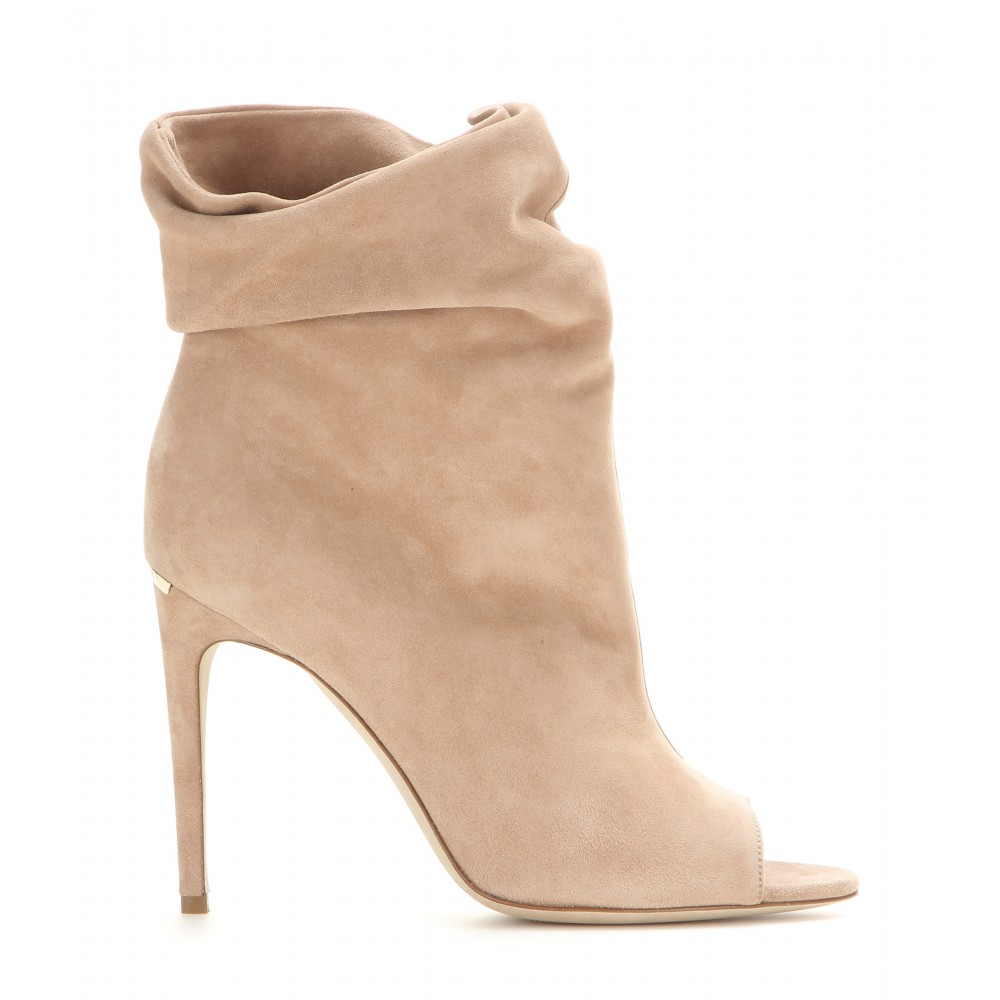 clearance online ebay free shipping shop offer Burberry Suede Round-Toe Ankle Boots view IUx4gZ