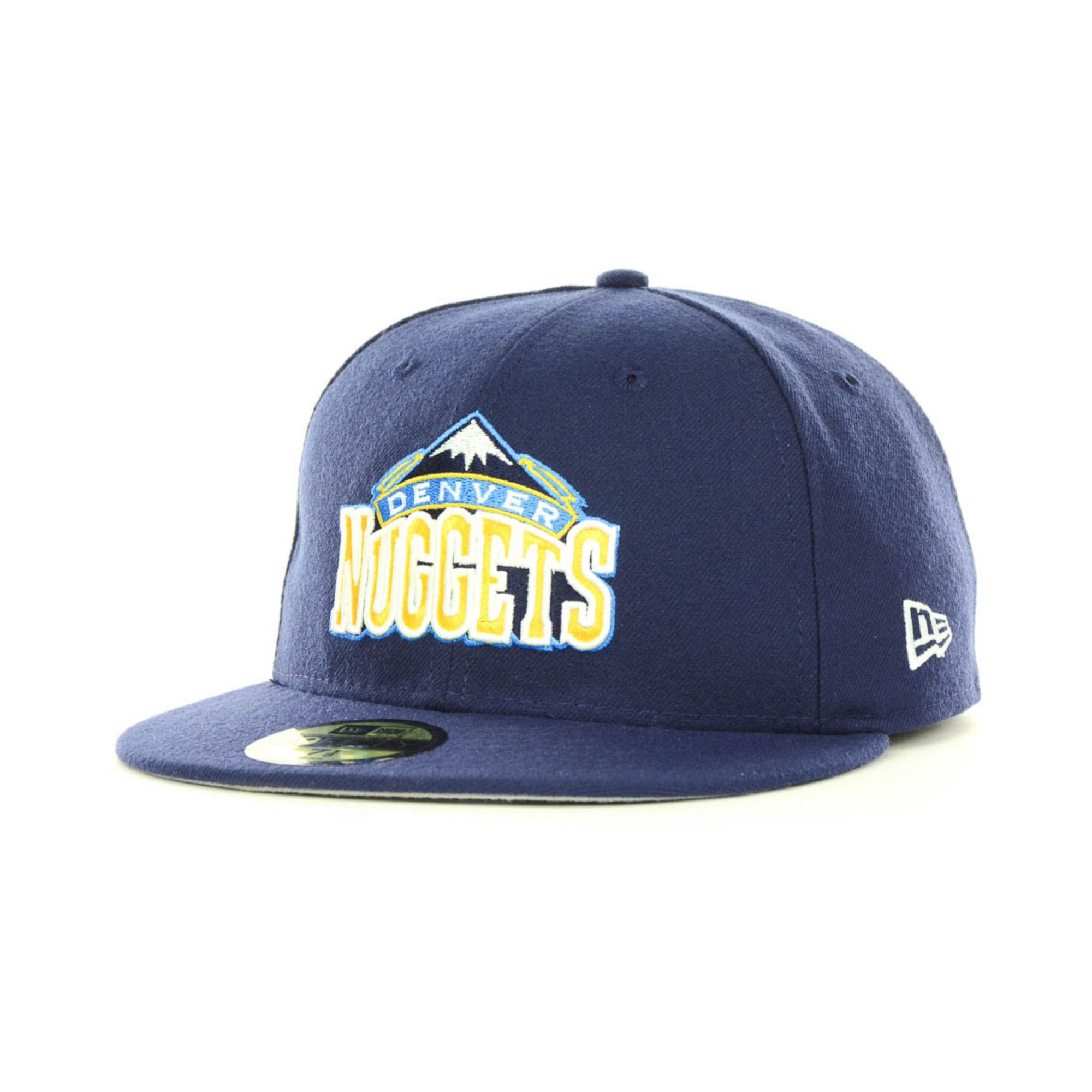 the latest c2c55 438fe low cost lyst ktz denver nuggets nba current logo 59fifty cap in blue for  men ab36c