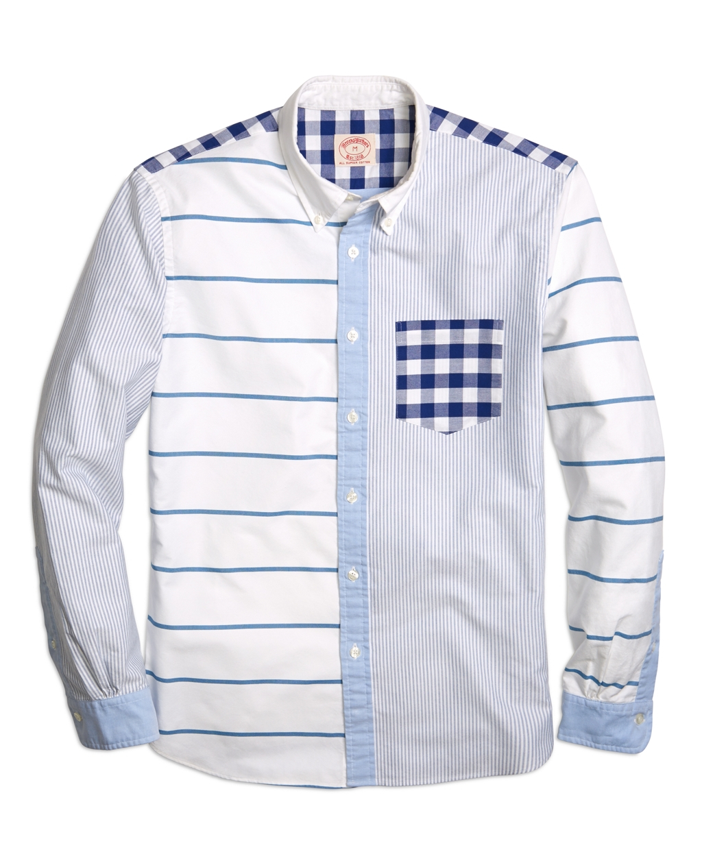 Lyst Brooks Brothers Oxford Fun Sport Shirt In Blue For Men