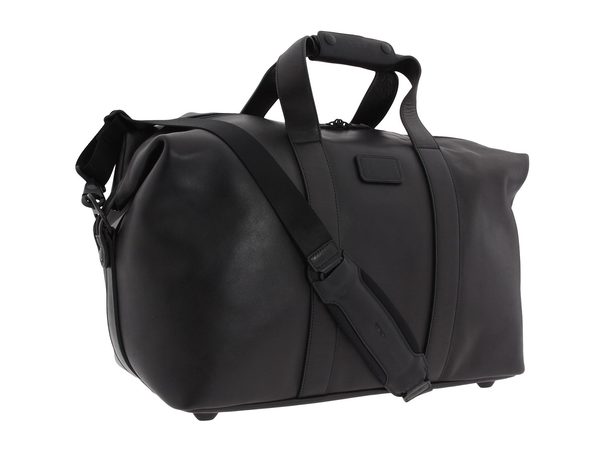 Lyst - Tumi Alpha - Small Soft Leather Travel Satchel in Black 673f4b308ab6d