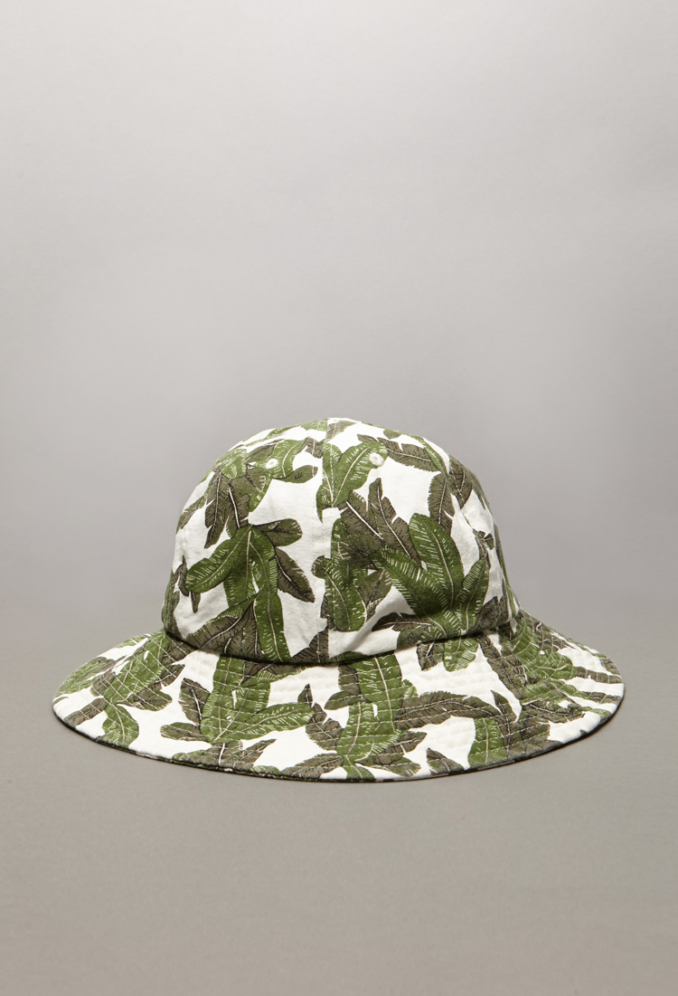 994e938e6f2 Lyst - Forever 21 Tropical Print Bucket Hat in Green