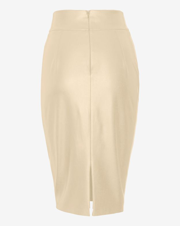 d2dc5033c1 Bailey 44 Leather-Like Pencil Skirt: Nude in Natural - Lyst