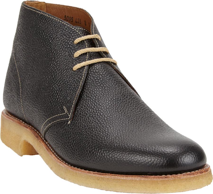 22634b727ffb24 Lyst - Foot The Coacher Oscar Threeeye Chukka Boots in Black for Men