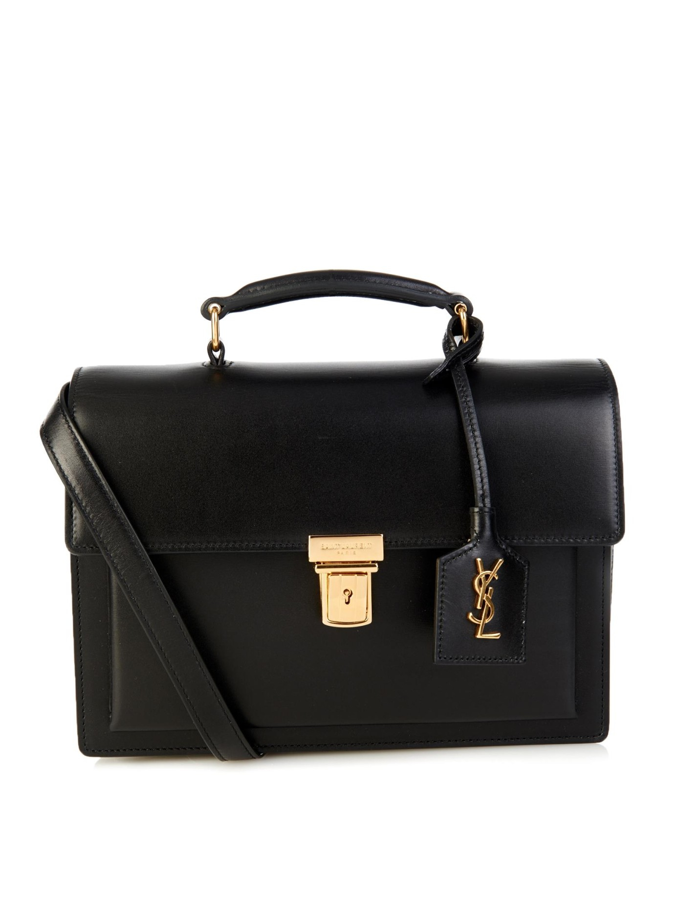 saint laurent high school medium leather shoulder bag in black lyst. Black Bedroom Furniture Sets. Home Design Ideas