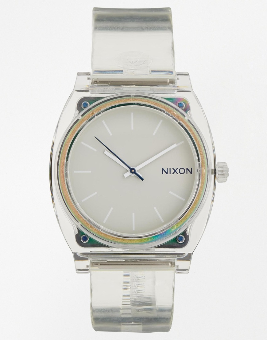 teller watch watches lyst translucent time transparent gallery accessories product nixon normal