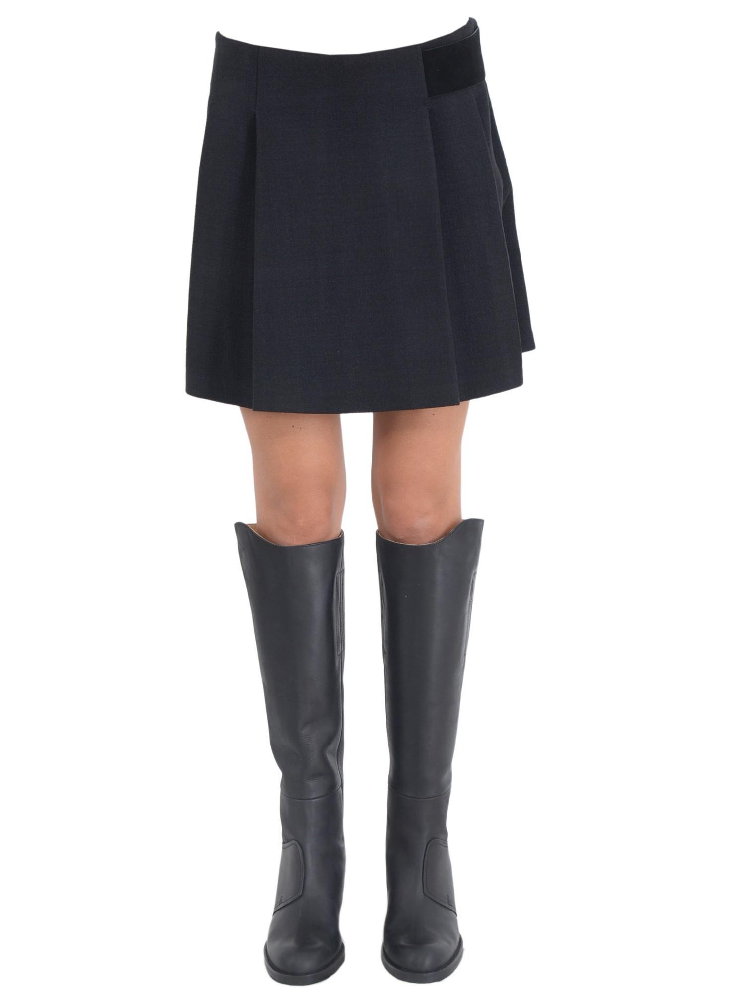 proenza schouler black pleated skirt lyst