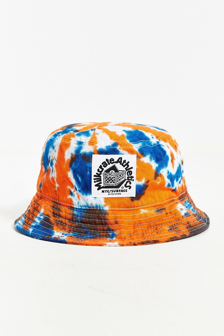 c35fbf69c9f Lyst - Milkcrate Athletics Tie-Dye Bucket Hat in Red for Men