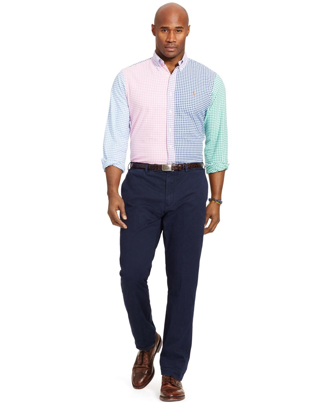 Ralph lauren big and tall mens dress shirts ralph lauren for Polo shirts for men on sale