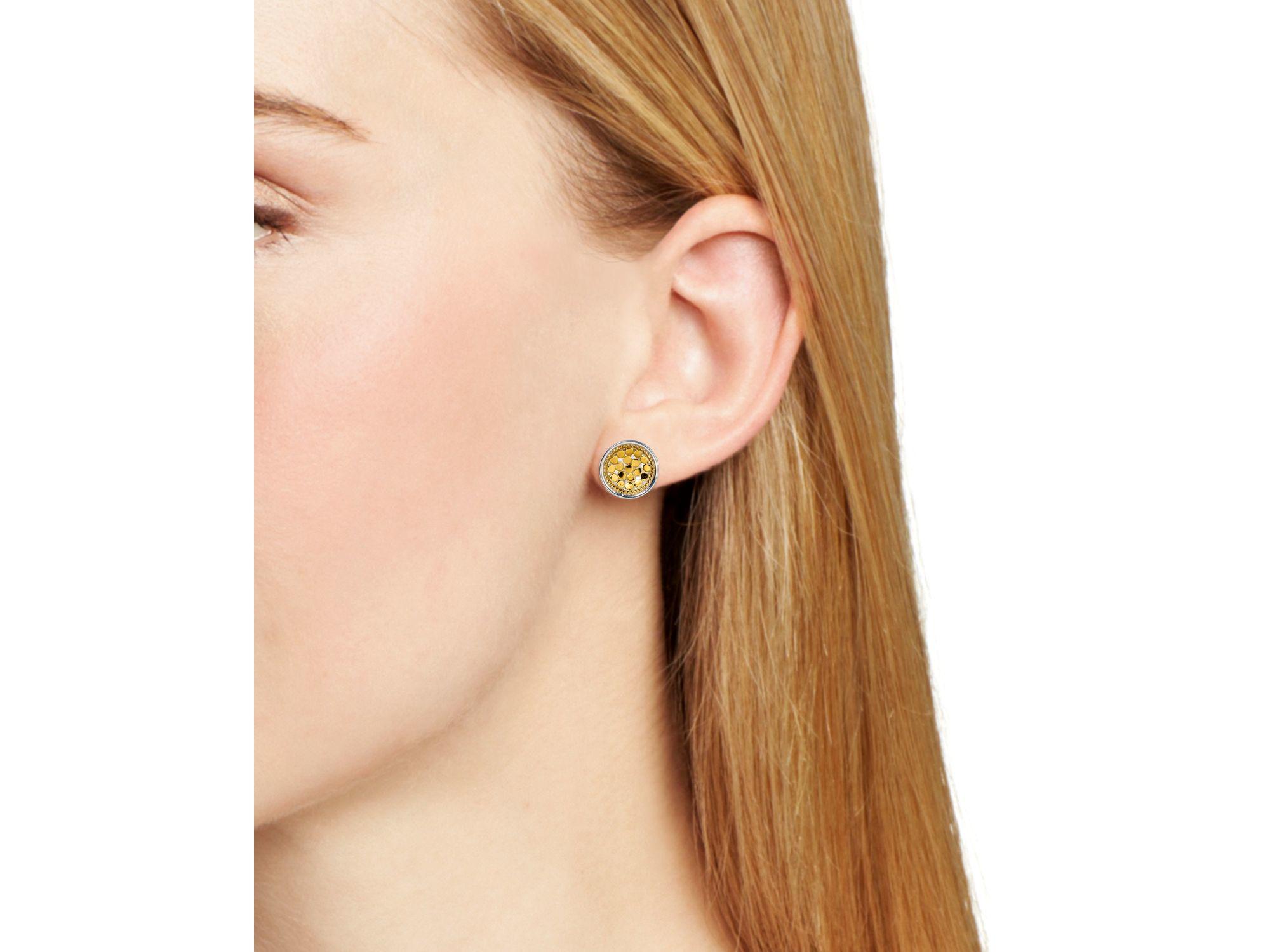 0a145823d Anna Beck Circle Stud Earrings in Metallic - Lyst
