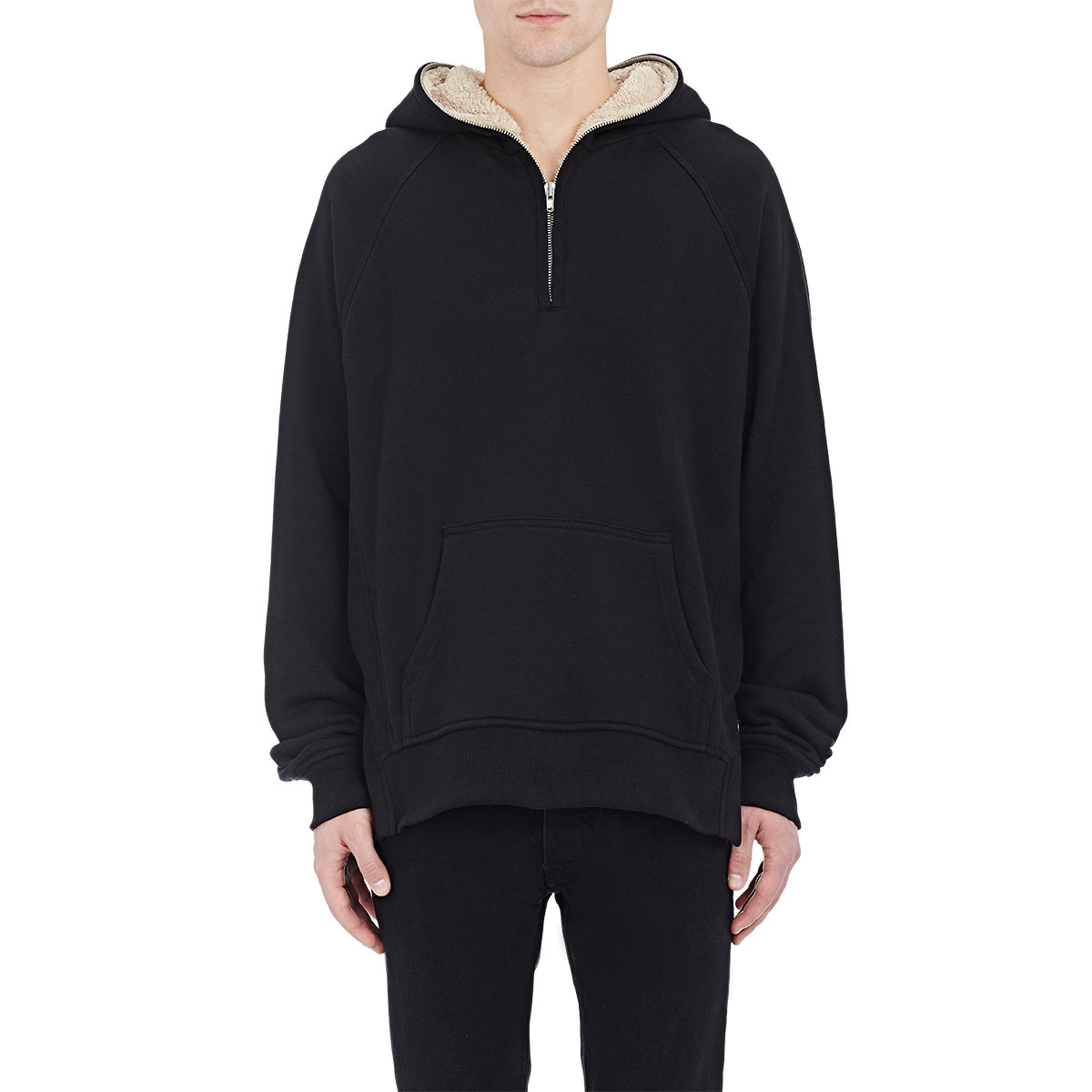 Fear of god Half-zip Hoodie in Black for Men | Lyst