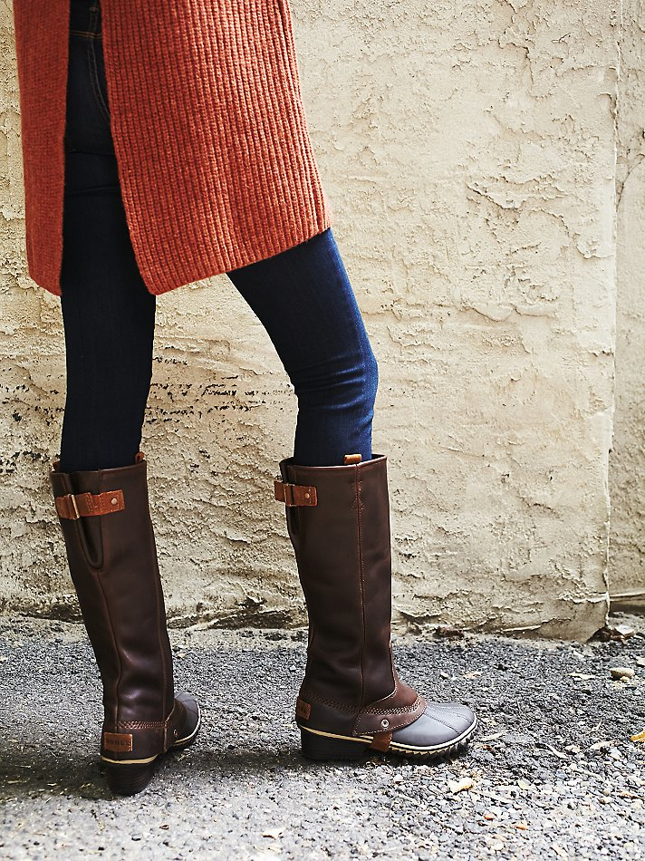Free people Sorel Womens Slimpack Riding Tall Boot in Brown | Lyst