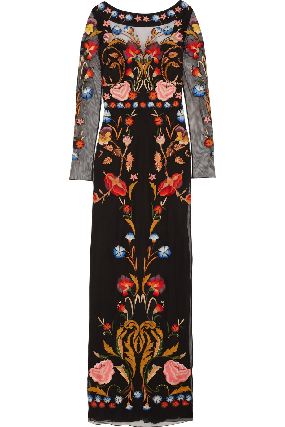 Lyst temperley london toledo floral embroidered tulle