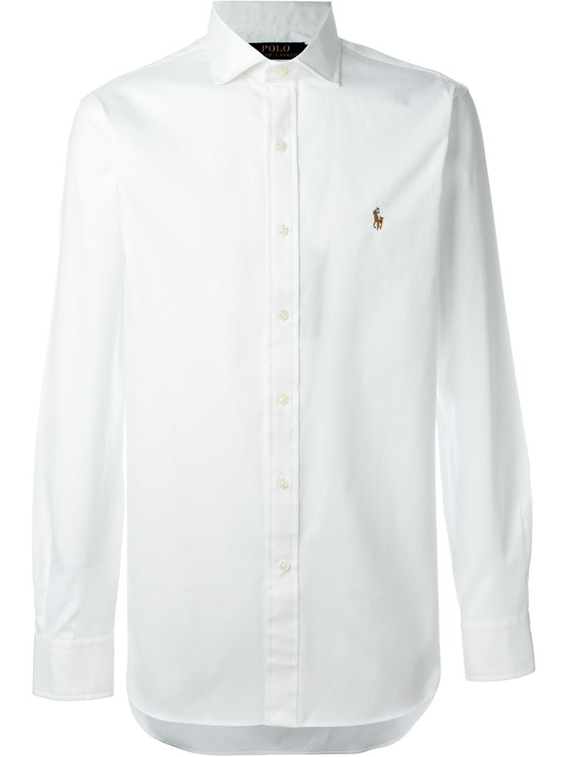 Polo ralph lauren classic button down shirt in white for for Preppy button down shirts