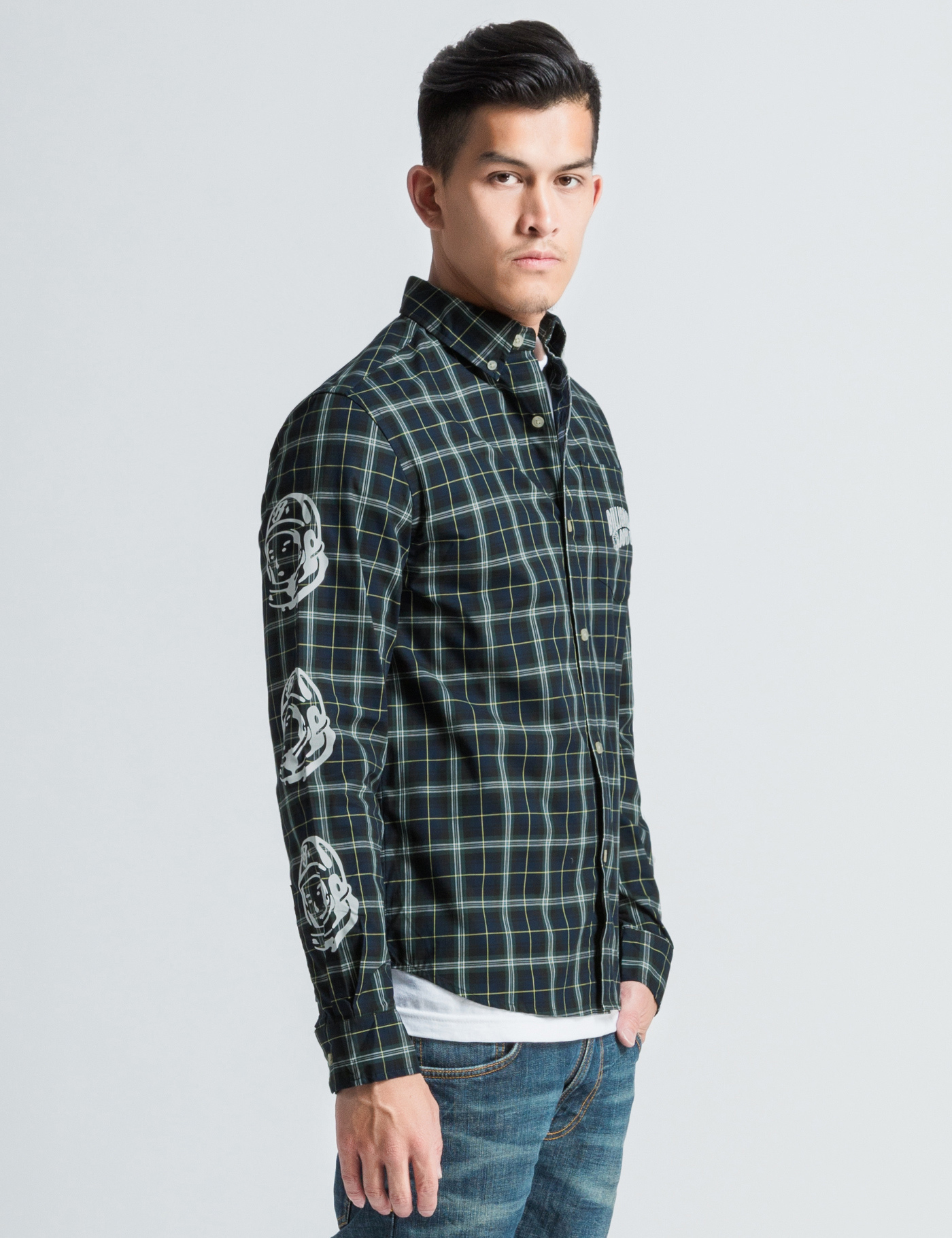 Billionaire Boys Club Ice Cream Green Plaid Button
