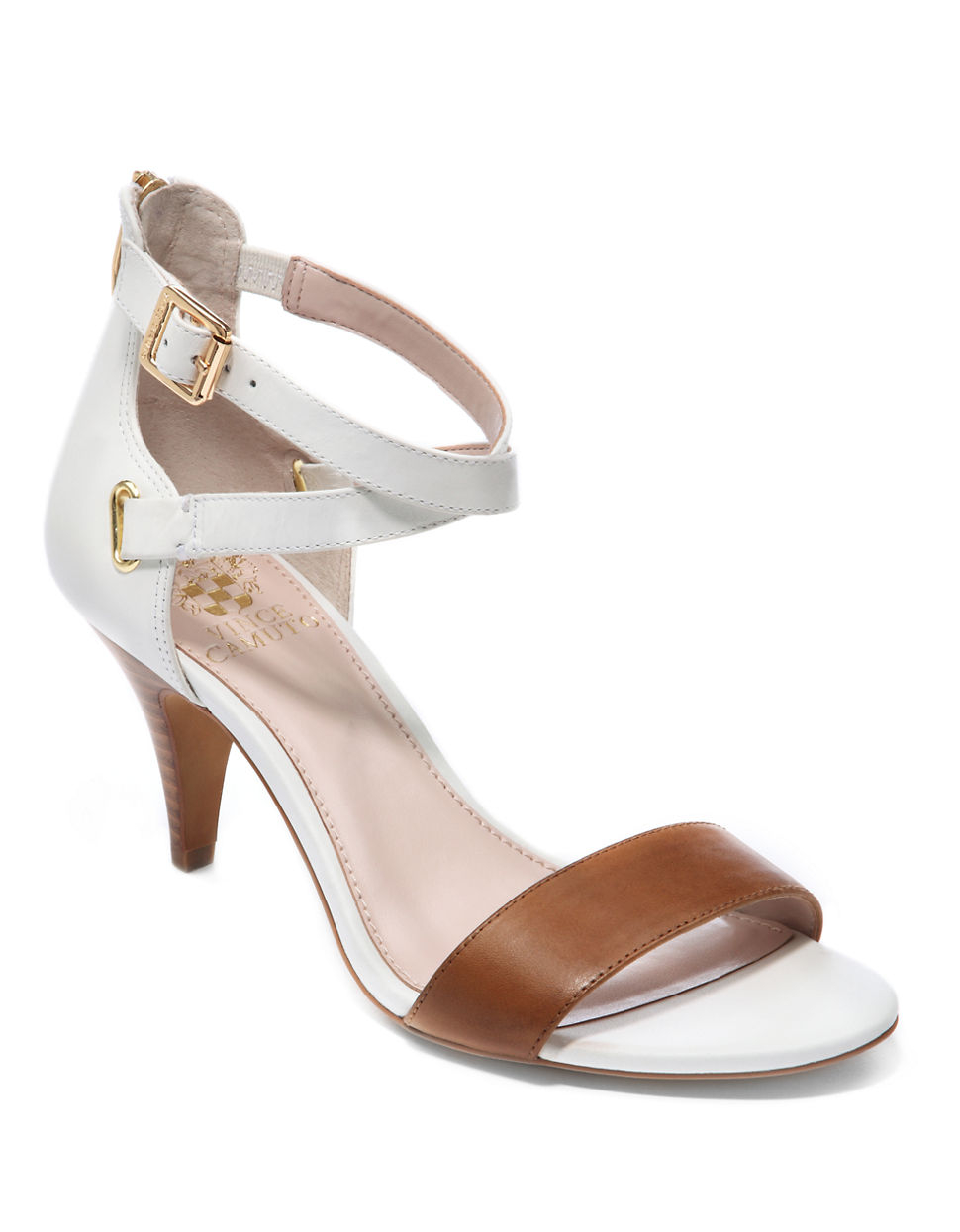 Vince Camuto Marlina Leather Strappy Open Toe Sandals In