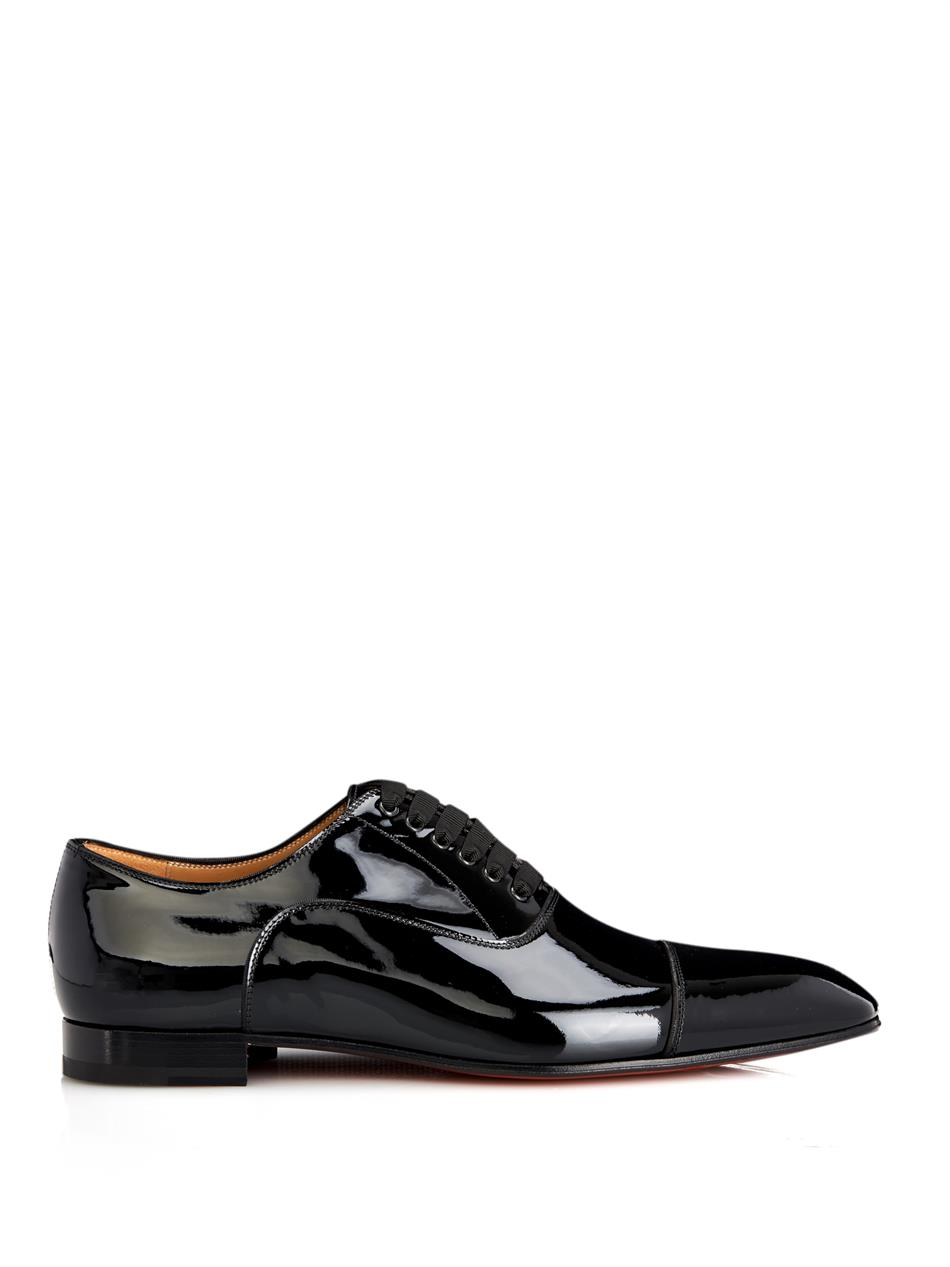Christian Louboutin Patent Leather Lace Up Oxfords