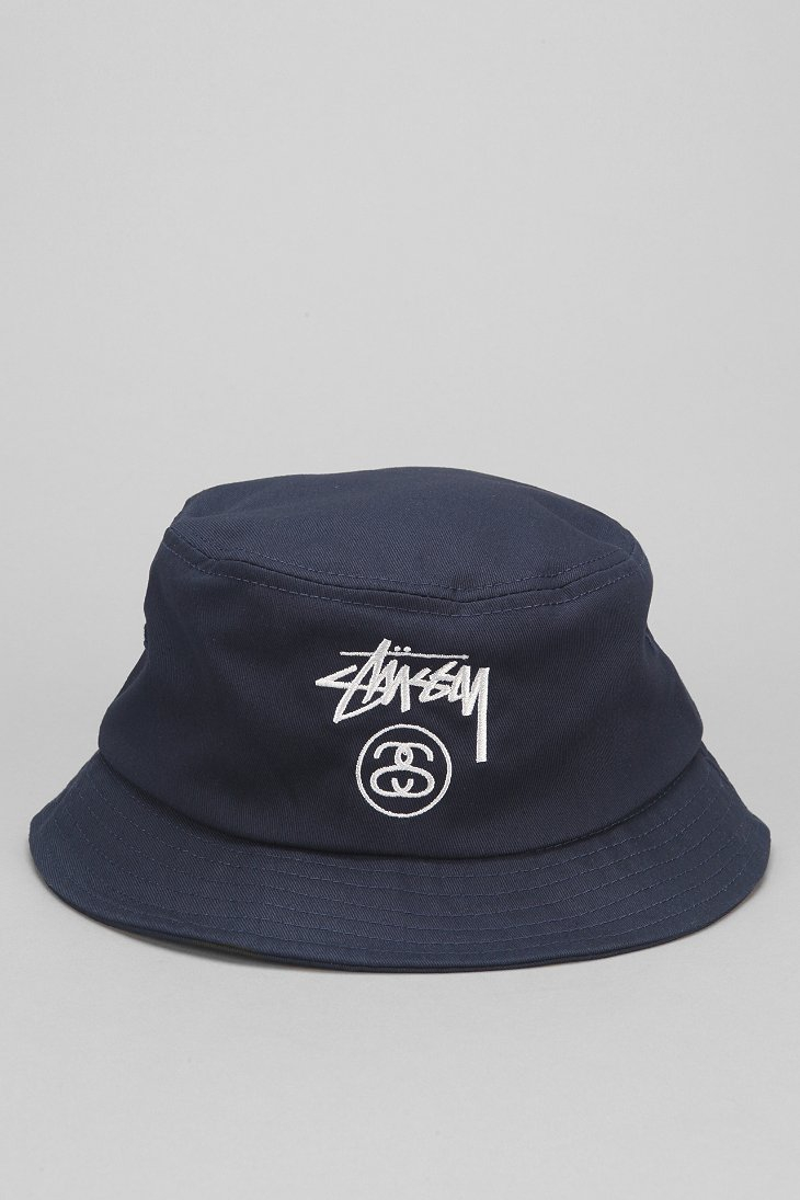 ac3f7904c06c68 Stussy Stock Lock Bucket Hat in Blue for Men - Lyst