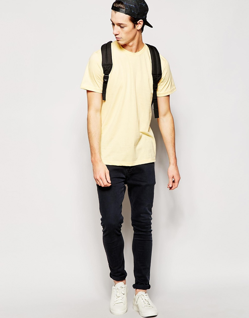Lyst American Apparel Fine Jersey T Shirt In Yellow For Men