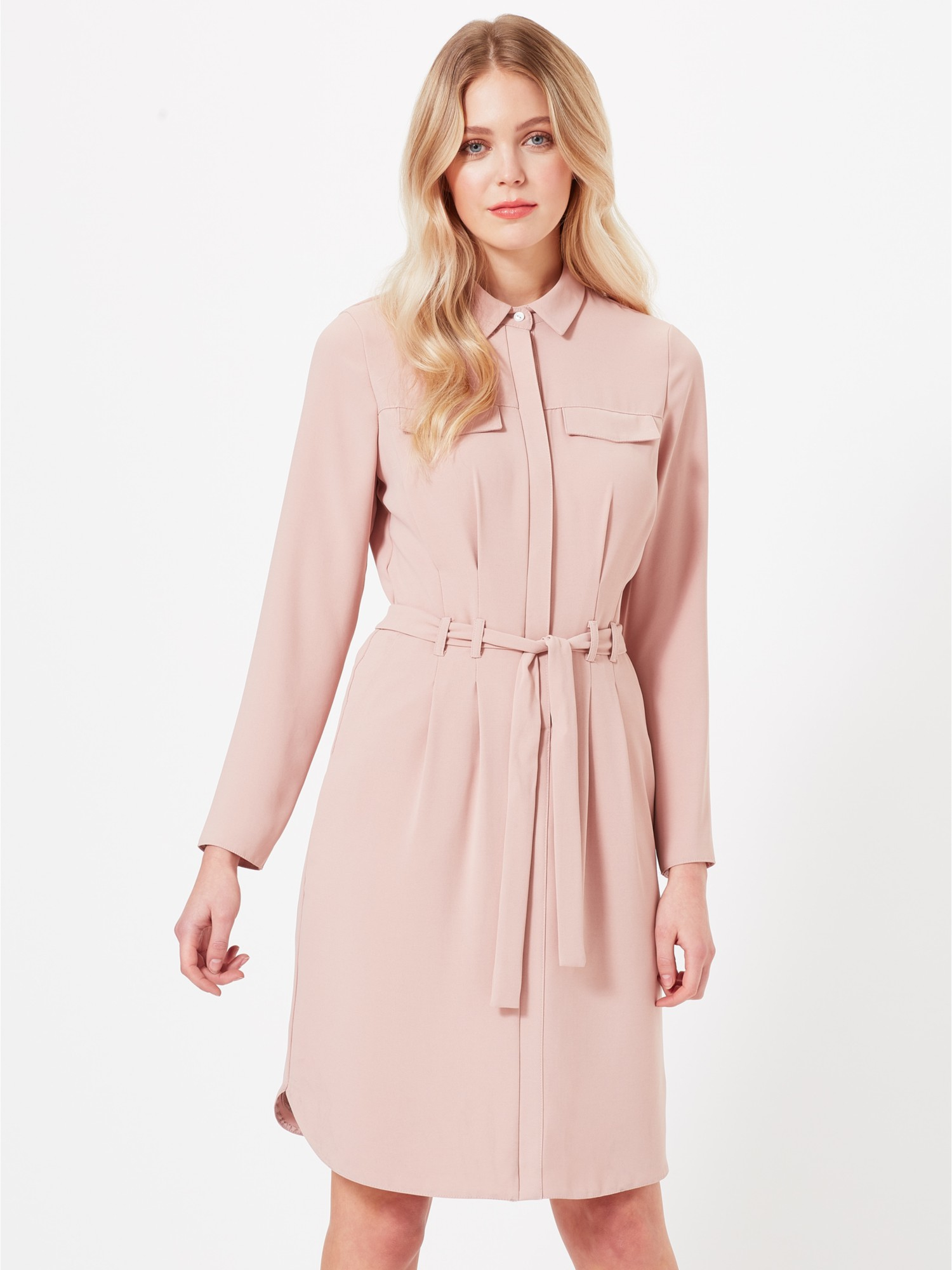 553d290bee24 Miss Selfridge Tie Up Shirt Dress in Pink - Lyst