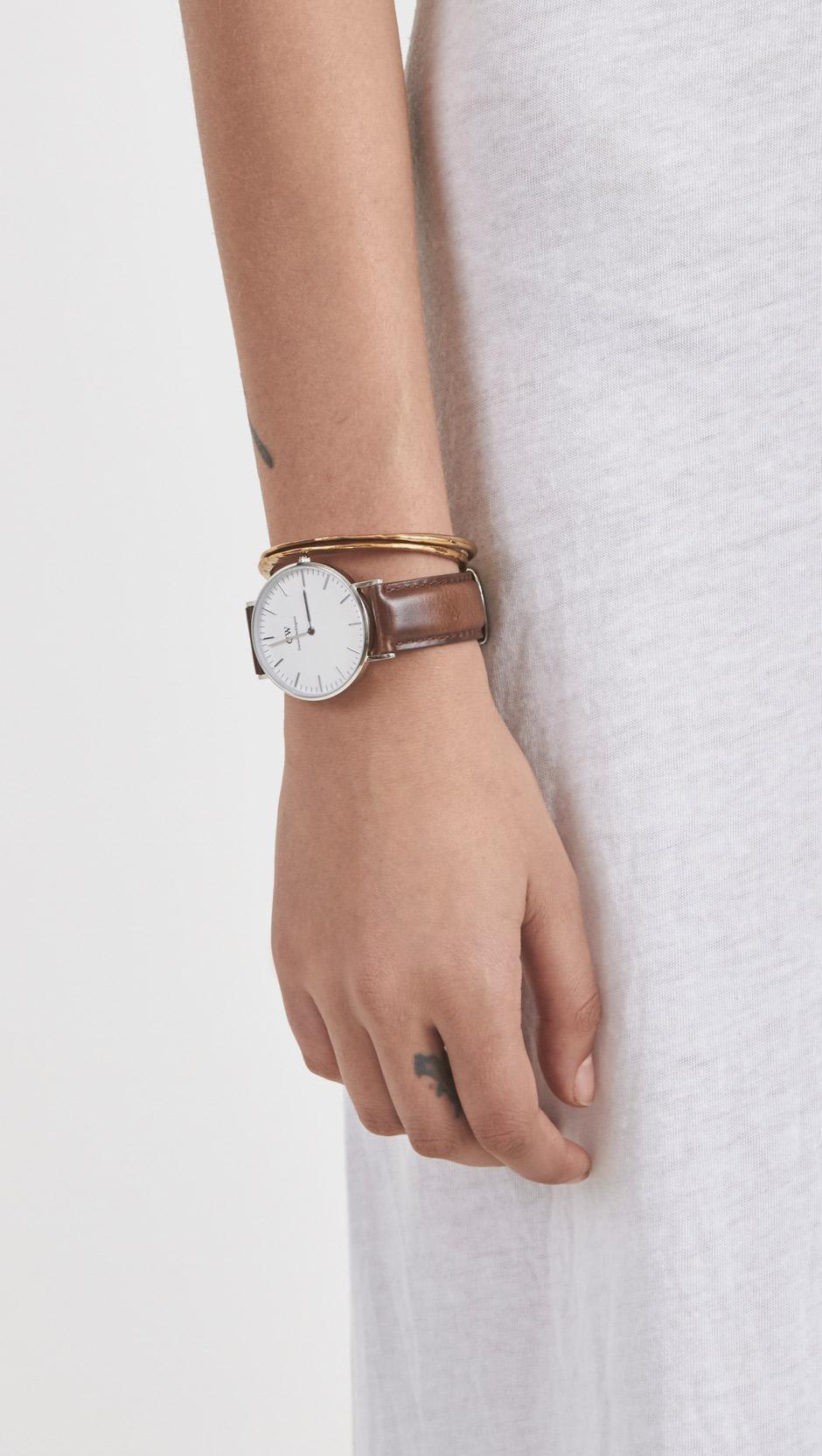 b59fc5f857f2 Daniel Wellington Classic Bristol Watch in Brown - Lyst